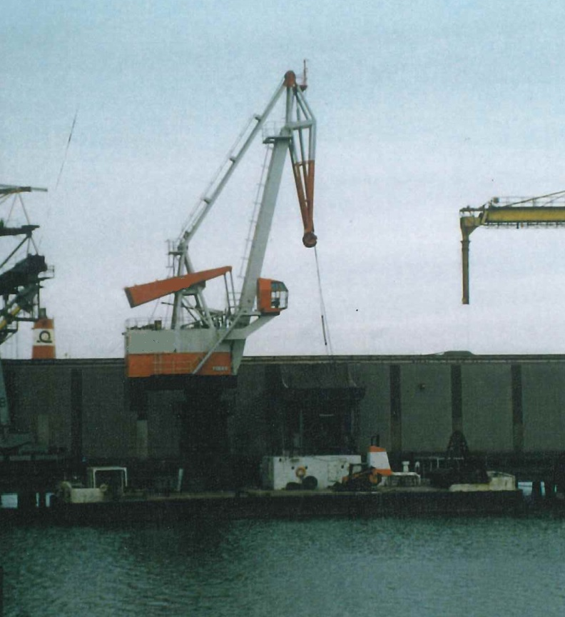 floating discharge crane 13 Tons for sale